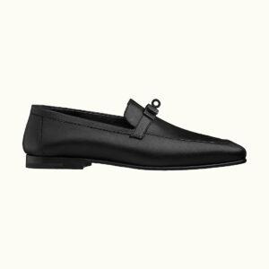 Giày lười Hermes like au khóa màu đen GHM07