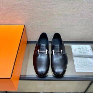 Giày lười Hermes like au đế cao họa tiết mặt thanh GHM14