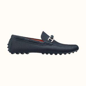 Giày lười Hermes like au họa tiết tag lệch GHM16