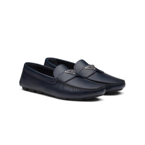 Giày lười Prada like au màu xanh GLP02