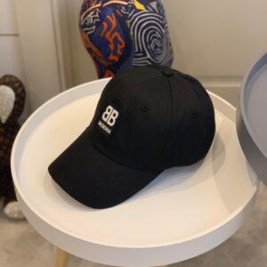 Mũ nam Balenciaga siêu cấp họa tiết logo màu đen MBL04