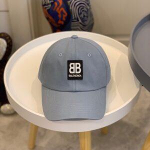 Mũ nam Balenciaga siêu cấp họa tiết logo màu xám MBL03