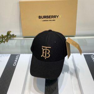 Mũ nam Burberry siêu cấp họa tiết logo màu đen MBB10