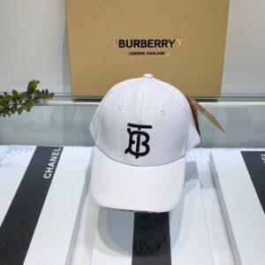 Mũ nam Burberry siêu cấp họa tiết logo màu trắng MBB09