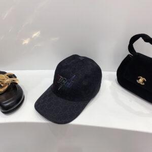 Mũ nam gucci siêu cấp họa tiết chữ thêu màu đen MGC15