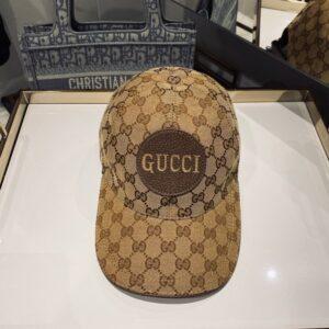 Mũ nam Gucci siêu cấp họa tiết logo chữ vàng MGC10