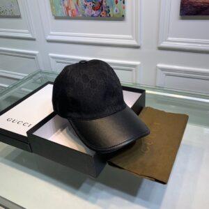 Mũ nam Gucci siêu cấp họa tiết logo phối da màu đen MGC05