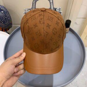 Mũ nam Louis Vuitton siêu cấp họa tiết hoa màu nâu MLV19