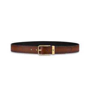 Thắt lưng Louis Vuitton Like Au khóa kim dây trơn màu nâu TLV11