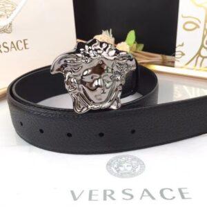 Thắt lưng nam Versace like au dây nhăn khóa trắng TVS08