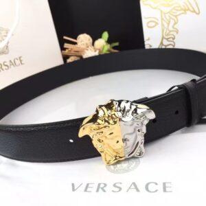 Thắt lưng nam Versace mặt khóa 2 màu TVS09