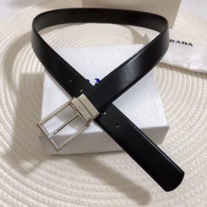 Thắt lưng Prada nam khóa kim màu trắng TLP29