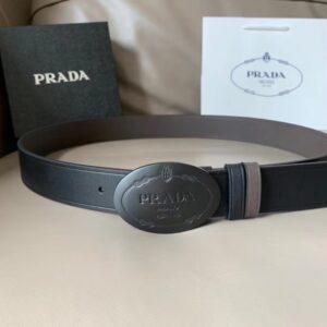 Thắt lưng Prada nam khóa trong màu đen TLP12