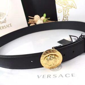Thắt lưng nam Versace Like au khóa tròn màu vàng TVS15