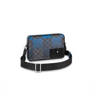 Túi đeo chéo LV Alpha Messenger Blue