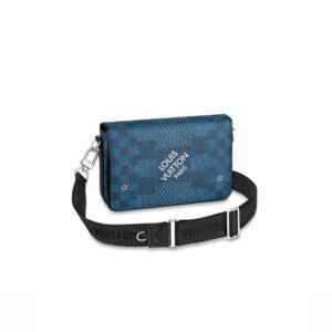 Túi đeo chéo LV Studio Messenger Damier Blue TDLV19