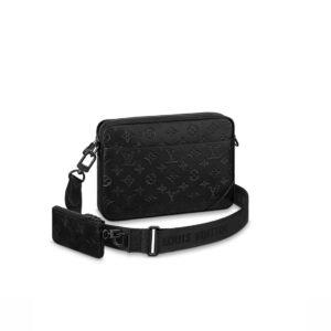 Túi đeo chéo nam Louis Vuitton Duo Messenger Black