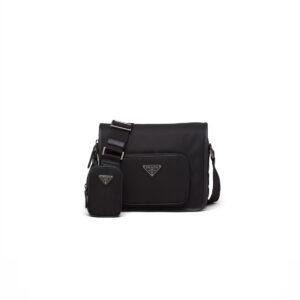 Túi Đeo Chéo Prada họa tiết chữ màu đen TDCP13