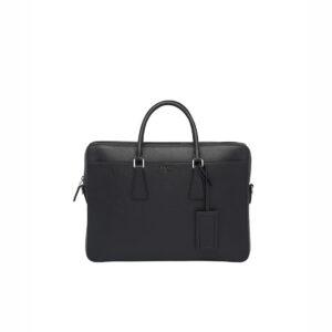 Túi xách nam Prada like au họa tiết Logo chữ màu đen TXP08