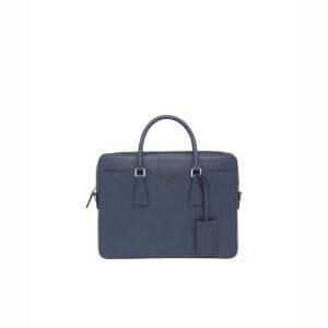 Túi xách nam Prada like au họa tiết Logo chữ màu xanh TXP09