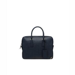 Túi xách nam Prada like au logo góc màu xanh TXP07