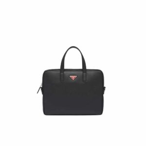 Túi xách nam Prada like au họa tiết logo màu đỏ TXP04
