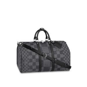 Ba Lô Louis Vuitton siêu cấpKeepall Bandouliere 50 Damier Graphite BLV03