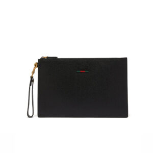 Clutch nam Gucci Agore Grained-Leather Pouch In Back CLG08