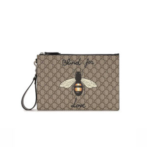 Clutch nam Gucci Bestiary Pouch with Bee CLG07