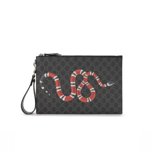 Clutch Gucci Bestiary pouch with Kingsnake CLG13