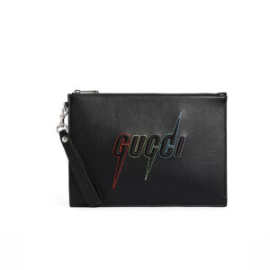 Clutch Gucci like au Blade Embroidered In Black CLG03