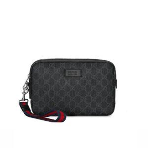 Clutch Gucci GG Supreme Wash Bag in Black CLG02