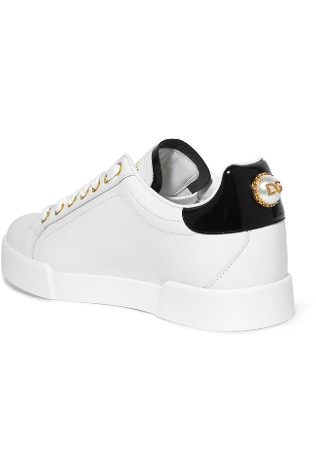Giày Dolce & Gabbana Embellished Leather Sneakers