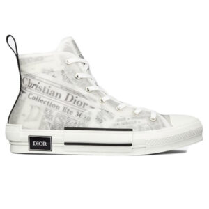 Giày Dior B23 High Top Daniel Arsham Newspaper Like Auth