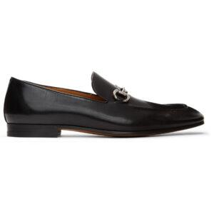Giày Gucci Black Horsebit Loafers Like Au
