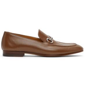 Giày Gucci Tan Leather Horsebit Loafers Like Au