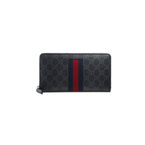 Vi Gucci GG Supreme Web Zip Around Wallet VNG02