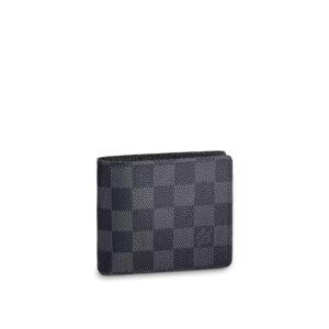 Ví Louis Vuitton siêu cấp Multiple Wallet Damier Graphite VLV01