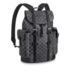 Ba Lô Louis Vuitton siêu cấp Christopher PM Damier Graphite BLV09