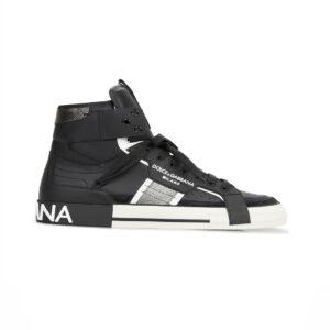 Giày D&G siêu cấp Black Sneaker Custom 2.Zero High Top GDG03