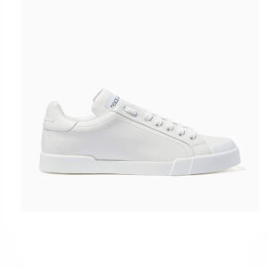 Giày D&G White Sneakers in Nappa & Rubber