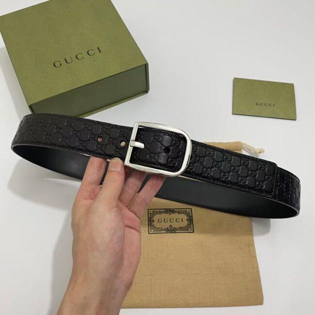 Thắt lưng Gucci GG Guccissima In Silver TLG09