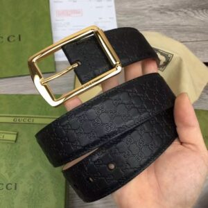 Thắt lưng Gucci siêu cấp Leather Belt With Rectangular Buckle TLG06