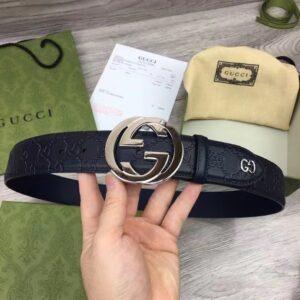 Thắt Lưng Gucci siêu cấp Reversible Signature Belt in Black TLG03