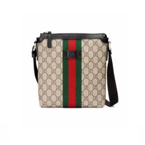 Túi đeo chéo Gucci Flat Messenger Supreme Beige TDG18