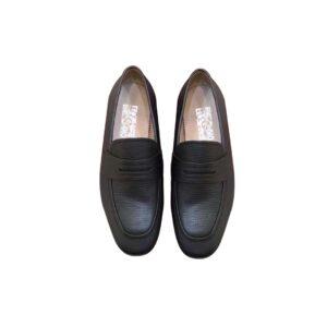 Giày lười Salvatore Ferragamo Tag ẩn da nhăn GSF07