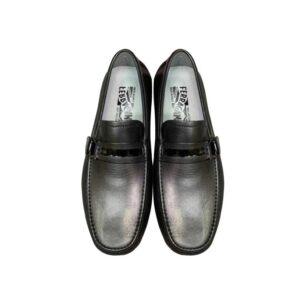 Giày lười Salvatore Ferragamo Tag ẩn màu đen GSF07