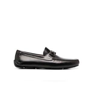 Giày lười Salvatore Ferragamo Gancini Buckle Driving màu đen GSF03
