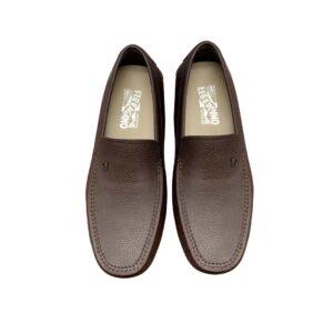 Giày lười Salvatore Ferragamo da nhăn màu nấu GSF05