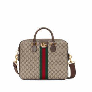Túi Xách Gucci Ophidia GG Briefcase Màu Xám TXG01